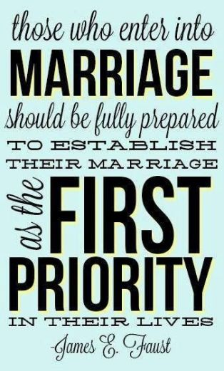 put marriage first